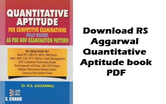 Download R S Agarwal Quantitative Aptitude free PDF
