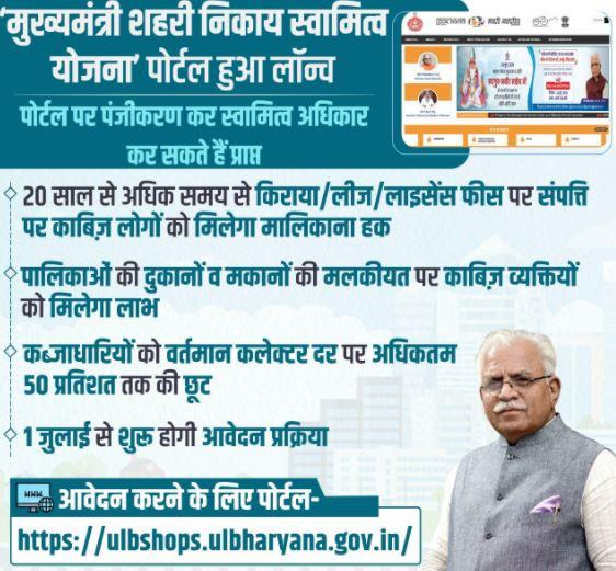 Haryana Shehri Nikay Swamitva Yojana