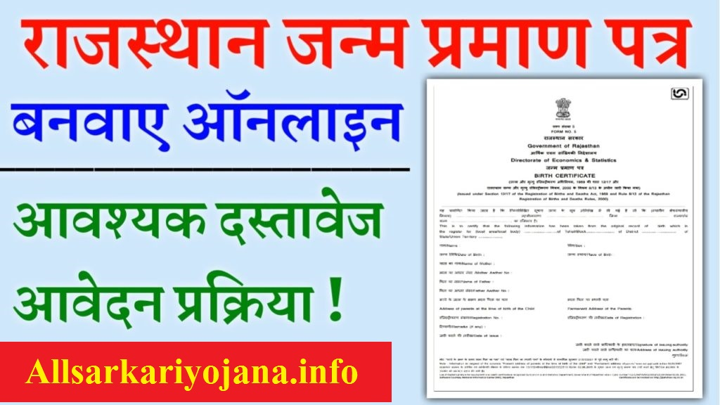 Birth Certificate Rajasthan Apply Online