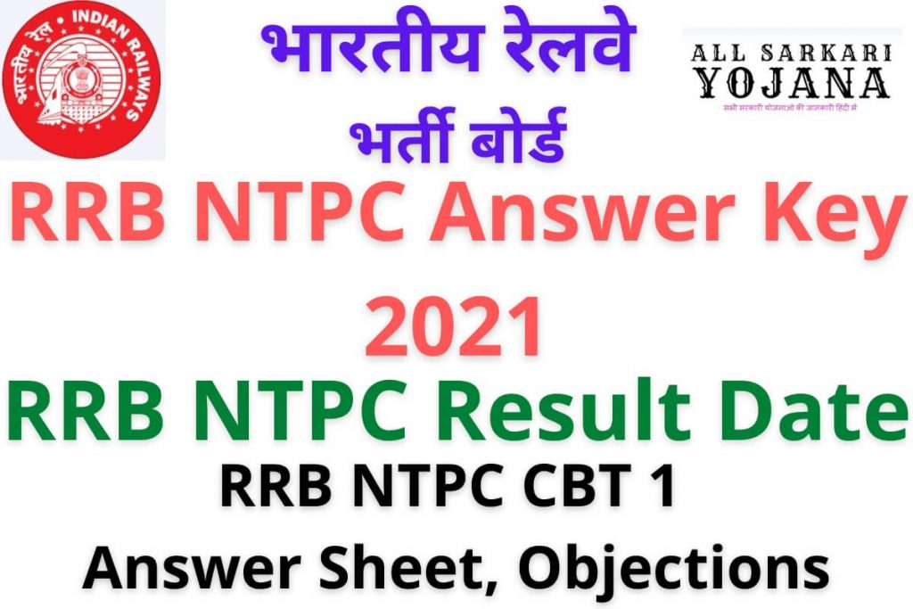 RRB NTPC Answer Key, Result Date