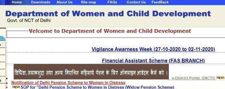 Widow pension Scheme Application form PDF