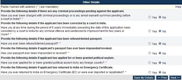 Passport Seva Online Portal Registration 7