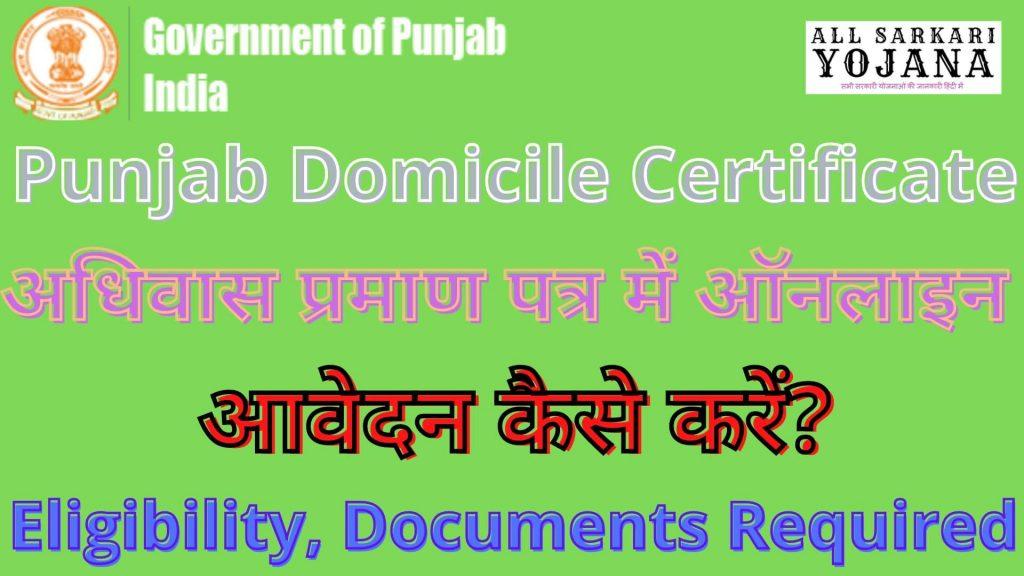Punjab Domicile Certificate